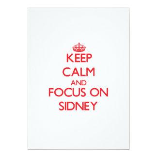 Keep Calm and focus on Sidney 13 Cm X 18 Cm Invitation Card