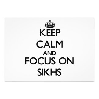 Keep Calm and focus on Sikhs Invitations