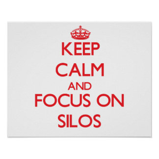 Keep Calm and focus on Silos Posters