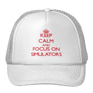Keep Calm and focus on Simulators Trucker Hat