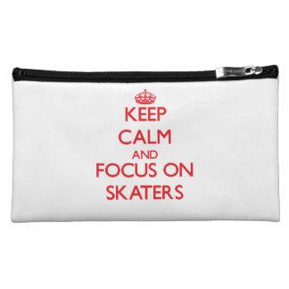 Keep Calm and focus on Skaters Makeup Bag
