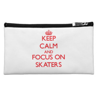 Keep Calm and focus on Skaters Makeup Bag