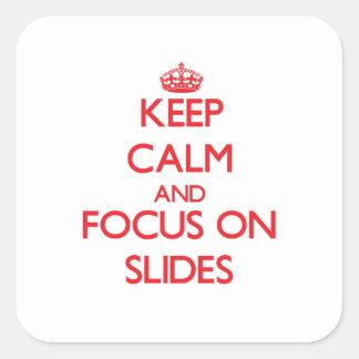 Keep Calm and focus on Slides Sticker
