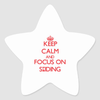 Keep Calm and focus on Sliding Star Sticker