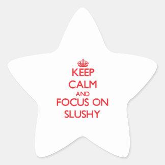 Keep Calm and focus on Slushy Star Sticker