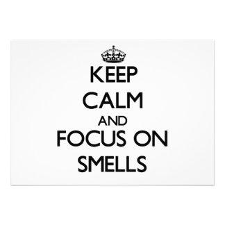 Keep Calm and focus on Smells Custom Invitation