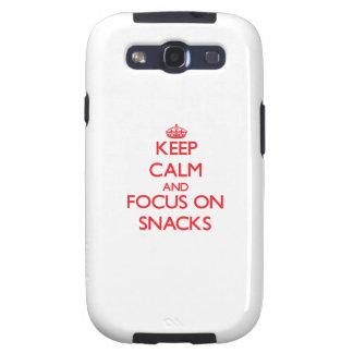 Keep Calm and focus on Snacks Samsung Galaxy SIII Case