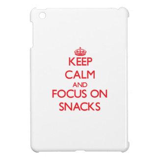 Keep Calm and focus on Snacks iPad Mini Cases