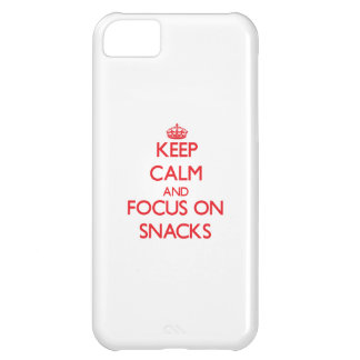 Keep Calm and focus on Snacks iPhone 5C Cover
