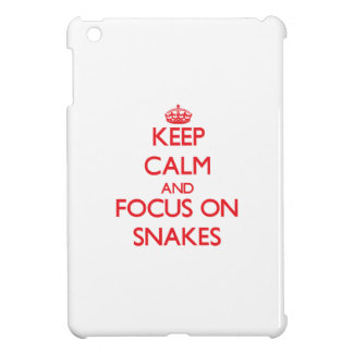 Keep Calm and focus on Snakes Case For The iPad Mini