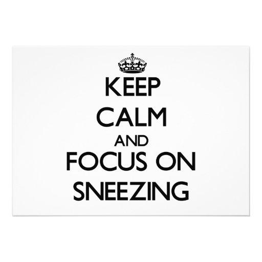 Keep Calm and focus on Sneezing Invitation