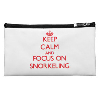 Keep Calm and focus on Snorkeling Cosmetic Bags