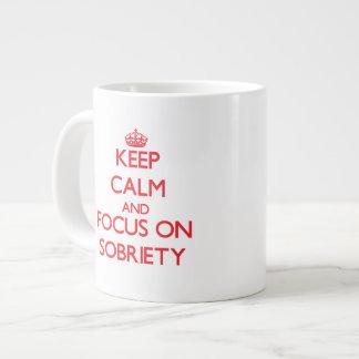 Keep Calm and focus on Sobriety Jumbo Mugs
