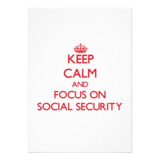 Keep Calm and focus on Social Security Invitation