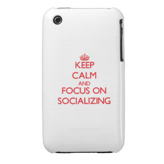 Keep Calm and focus on Socializing iPhone 3 Cover