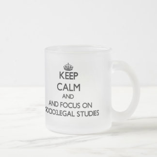 Keep calm and focus on Socio-Legal Studies Frosted Glass Mug