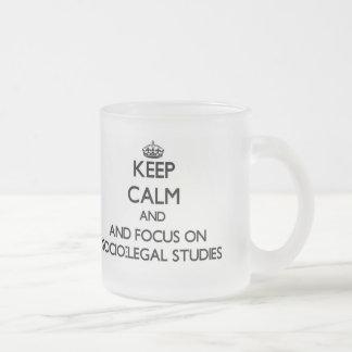 Keep calm and focus on Socio-Legal Studies Mugs