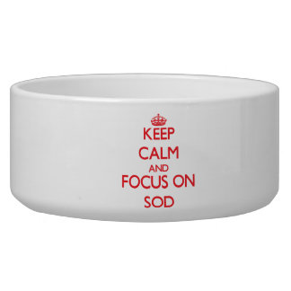 Keep Calm and focus on Sod Pet Water Bowls