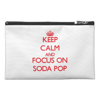 Keep Calm and focus on Soda Pop Travel Accessories Bag