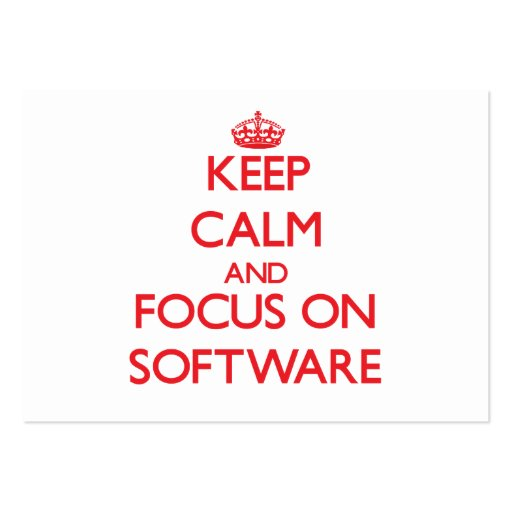 Keep Calm and focus on Software Business Card Template
