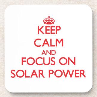 Keep Calm and focus on Solar Power Drink Coasters