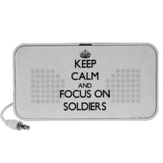 Keep Calm and focus on Soldiers Notebook Speaker