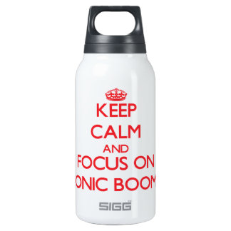Keep Calm and focus on Sonic Booms 10 Oz Insulated SIGG Thermos Water Bottle