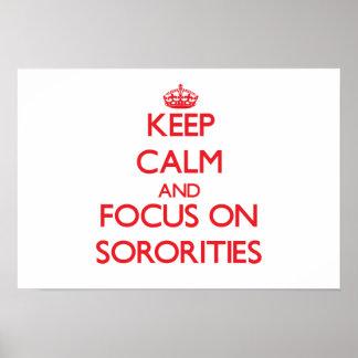 Keep Calm and focus on Sororities Print
