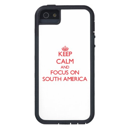 Keep Calm and focus on South America iPhone 5 Cover