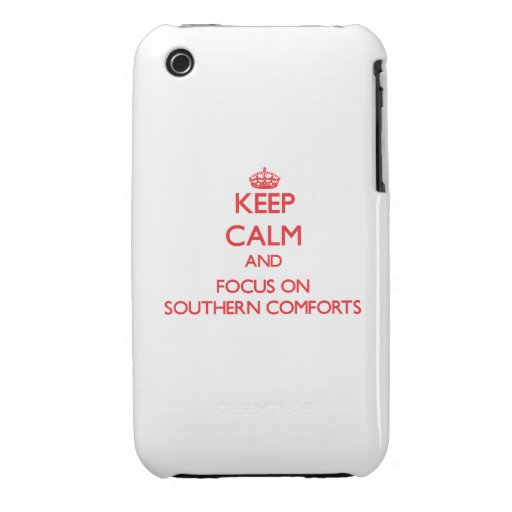 Keep Calm and focus on Southern Comforts iPhone 3 Cases