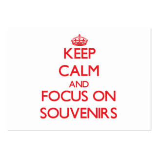 Keep Calm and focus on Souvenirs Business Card Templates