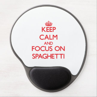 Keep Calm and focus on Spaghetti Gel Mouse Mat