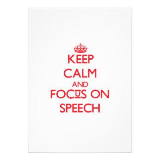 Keep Calm and focus on Speech Invites