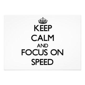 Keep Calm and focus on Speed Invitations