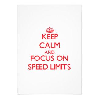 Keep Calm and focus on Speed Limits Custom Invites