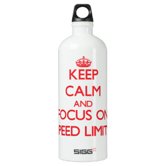 Keep Calm and focus on Speed Limits SIGG Traveller 1.0L Water Bottle