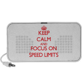 Keep Calm and focus on Speed Limits iPhone Speaker