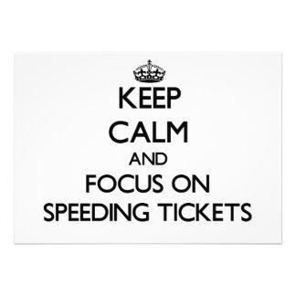 Keep Calm and focus on Speeding Tickets Custom Invitation