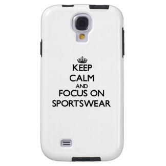 Keep Calm and focus on Sportswear Galaxy S4 Case