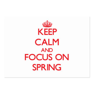 Keep Calm and focus on Spring Business Card Templates