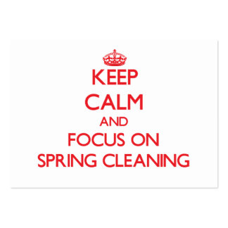 Keep Calm and focus on Spring Cleaning Business Card