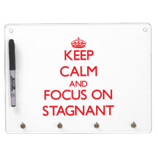 Keep Calm and focus on Stagnant Dry-Erase Board