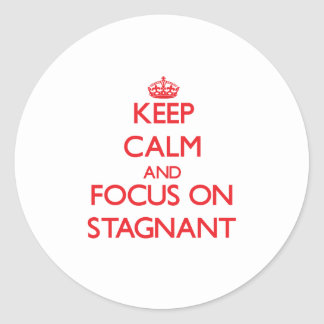 Keep Calm and focus on Stagnant Round Stickers