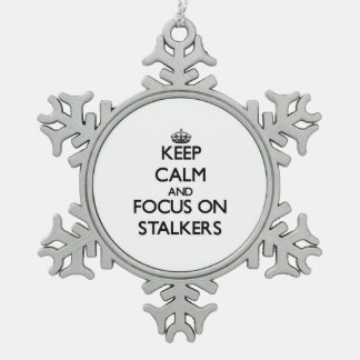 Keep Calm and focus on Stalkers Pewter Snowflake Decoration