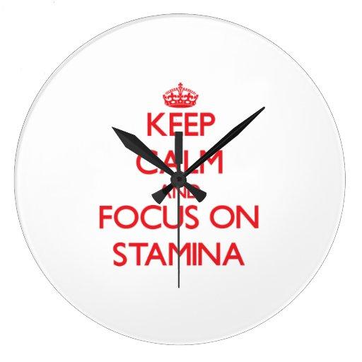 Keep Calm and focus on Stamina Clock