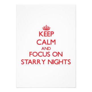 Keep Calm and focus on Starry Nights Custom Invites