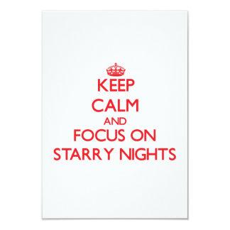 Keep Calm and focus on Starry Nights 9 Cm X 13 Cm Invitation Card