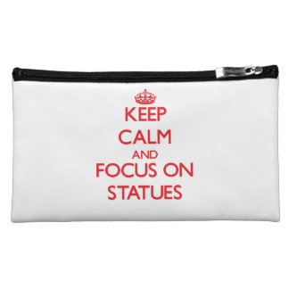 Keep Calm and focus on Statues Cosmetic Bag