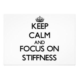 Keep Calm and focus on Stiffness Invitations