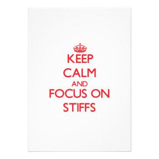 Keep Calm and focus on Stiffs Custom Announcements